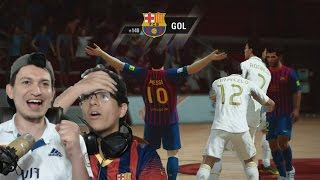 EL CLÁSICO BARCELONA Vs REAL MADRID EN FIFA STREET - EL PASTELAZO!!!