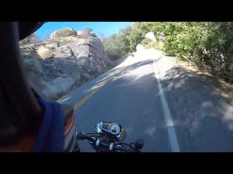 Motorcycles Having Fun on Mulholland (The snake)