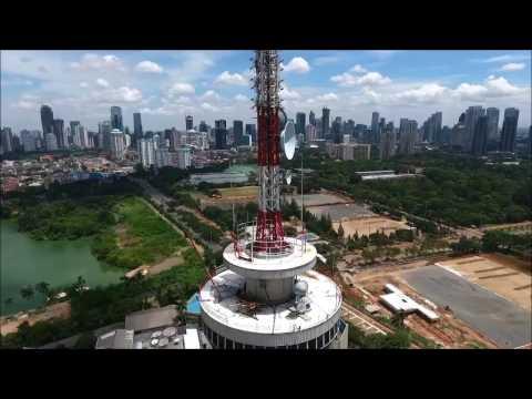 Dji Phantom 4 - Obstacle Avoidance system save my drone - TVRI Jakarta