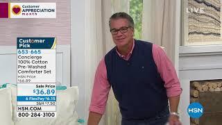 Concierge Collection 100% Cotton PreWashed Comforter Set