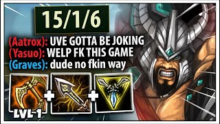 When Tryndamere gets a Level 1 Tiamat in Challenger... - League of Legends