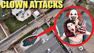 drone catches CLOWN ATTACKING STROMEDY in our POOL!! ( a video for the police )