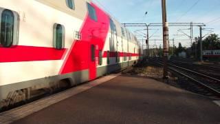 Finnish Night express train P266 arrives to Helsinki 01.10.2