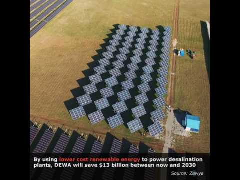 Solar energy to power Dubai desalination plants