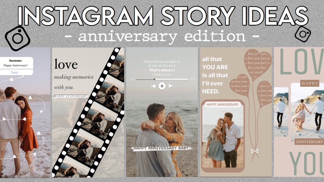 20 Creative Anniversary Story Ideas For Instagram   using the IG app ONLY