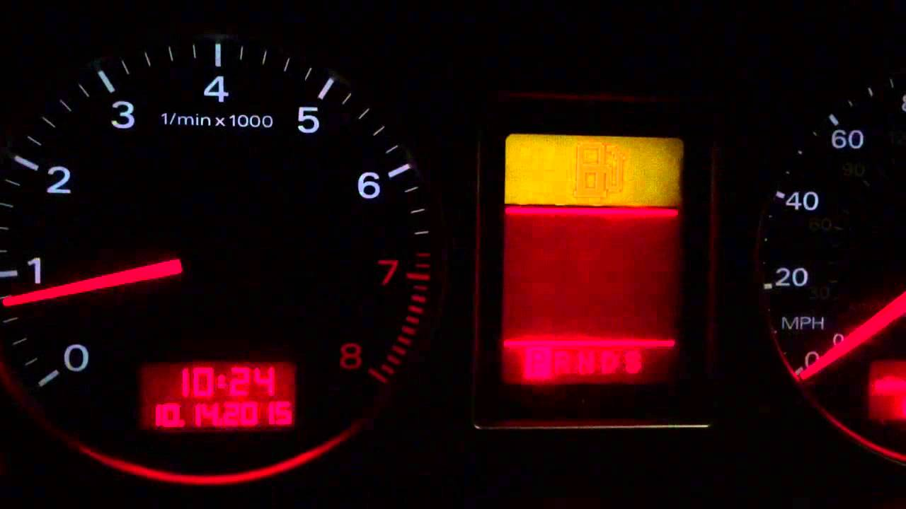 Audi Warning Lights What Do These Mean Youtube