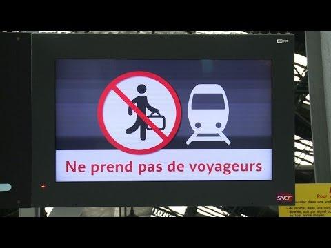 Trains grind to a halt as strikes grip France