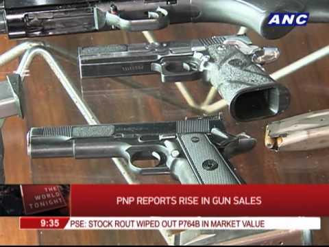 Gun sales rise, PNP says