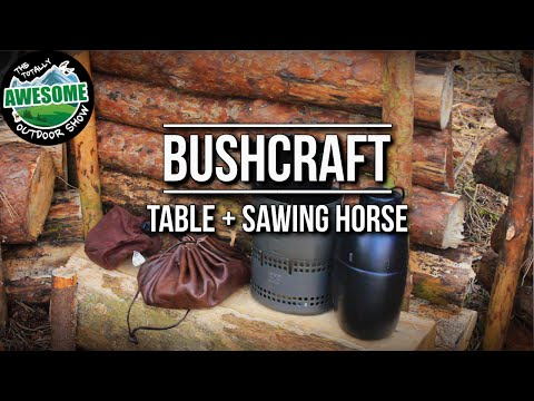 Bushcraft Portable Sawing Horse, Table and Log Collecting Tips | TA Outdoors