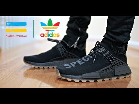 Pharrell Nmd Human Race Black Gum Review On Feet Youtube