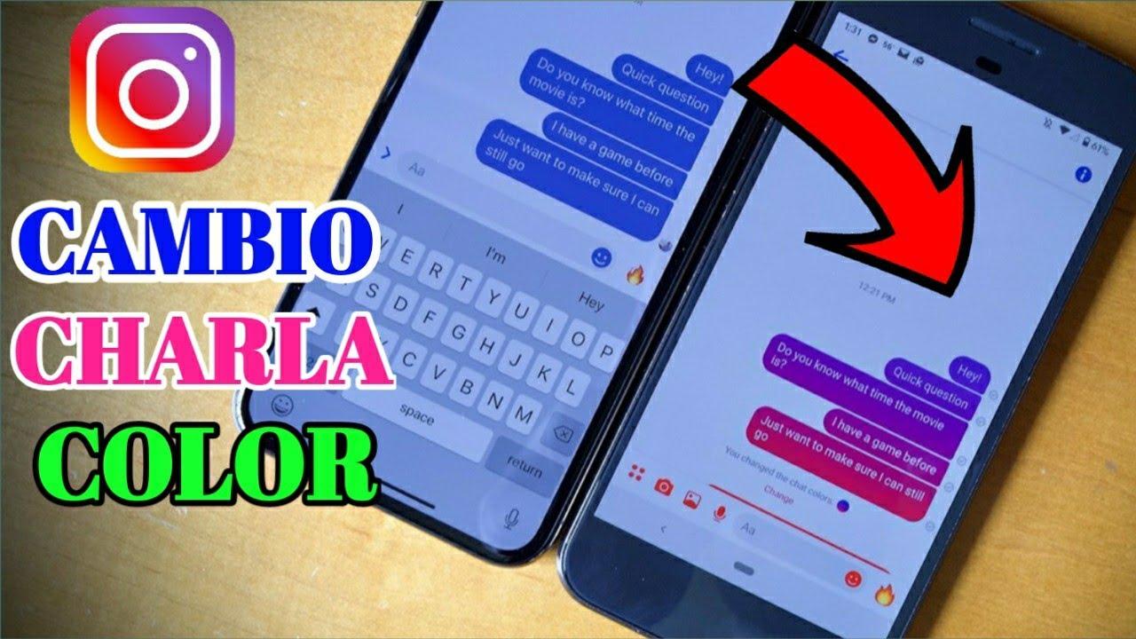 Cómo Cambiar El Color De Chat De Instagram 2021   Color De ...