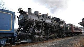 CNJ 113 R&N 425 Santa Claus Steam Doubleheader