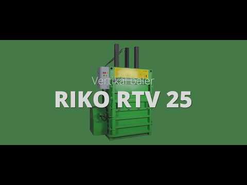 HYDRAULIC BALING PRESS FOR WASTE, PET BOTTLES - RTV 25 BALER MACHINE FOR SALE  PREFERENCE