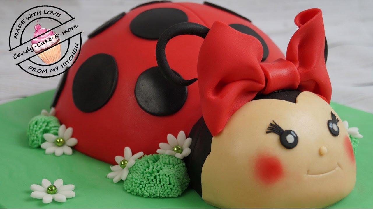 Marienkfer Torte I Ladybird Cake I Marienkfer Kuchen I Fondant Cake I Motivtorte  YouTube