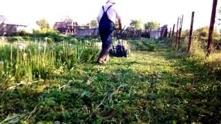 Косилка для высокой травы ЛопЛош, май 2016
