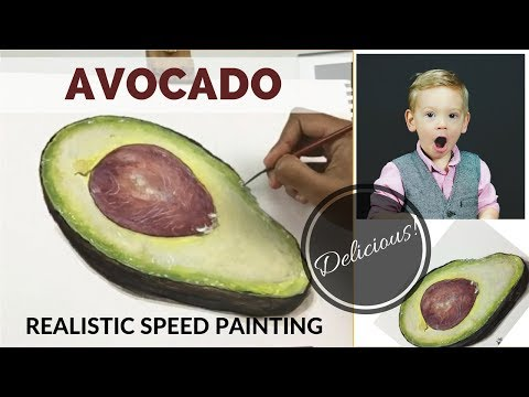 AVOCADO - Realism Art | Time lapse Painting in Acrylics!