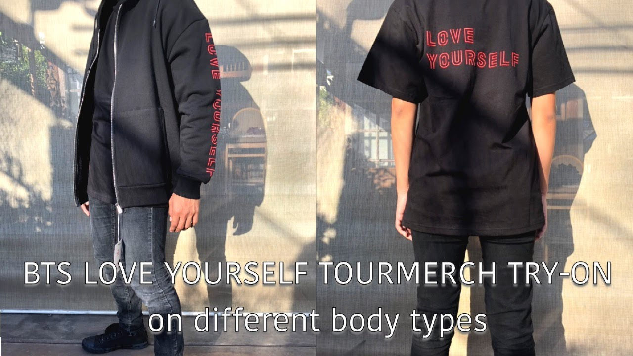 BTS LOVE YOURSELF TOUR TRY ON / SIZE 2 SHIRT AND HOODIE