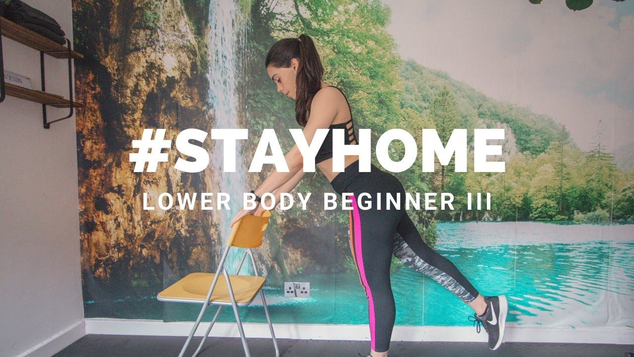 AT HOME LOWER BODY BEGINNER WORKOUT III | #STAYHOME (No equipment leg and bum workout for beginners)