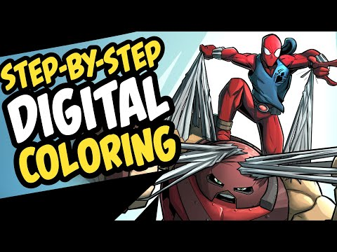 Digital Coloring | Step-by-Step Comic Book Style Colors