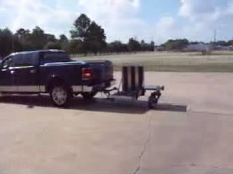 Swivel Wheel Trailer backs up Easily No Jack-Knifing - YouTube