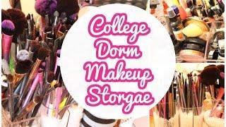 College Dorm Makeup Storage | College Diaries Ep.3