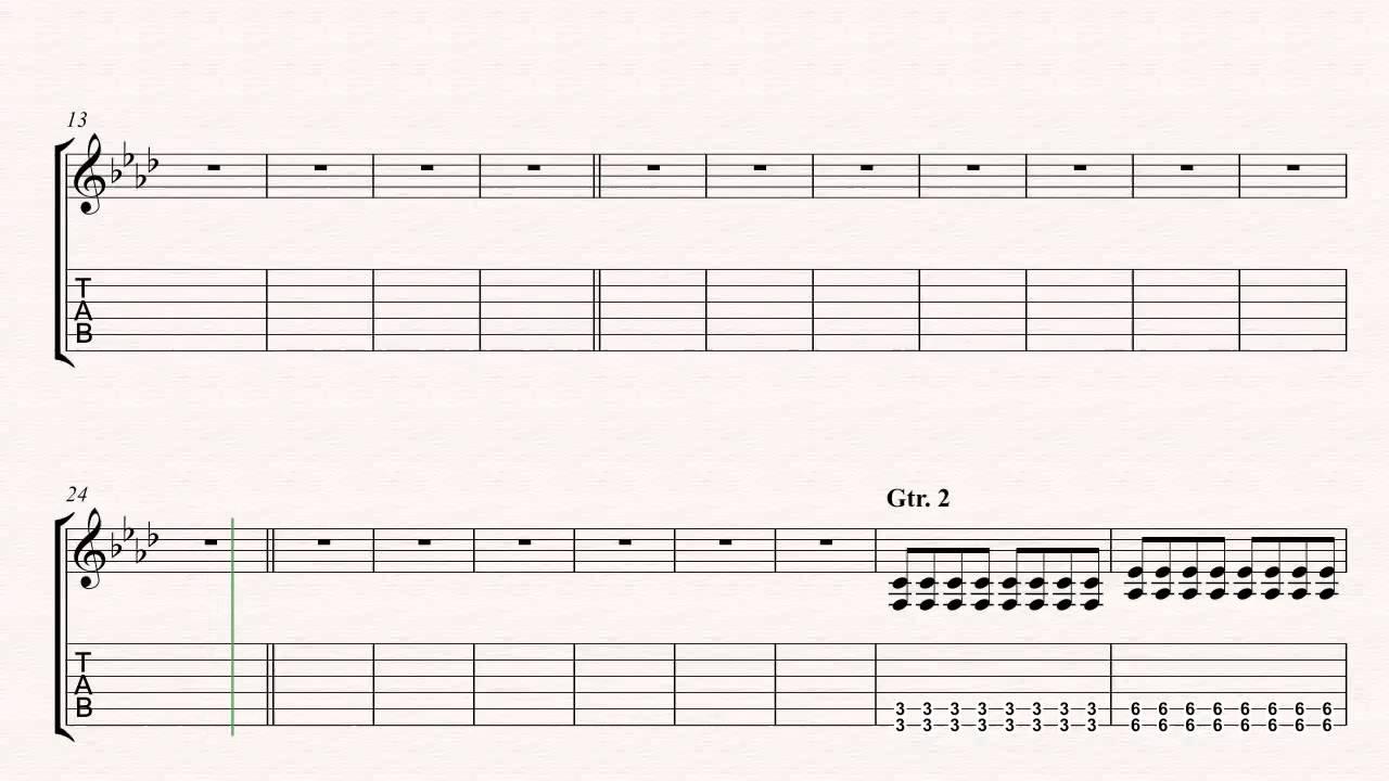 Guitar Song 2 Blur Sheet Music Chords Vocals Youtube