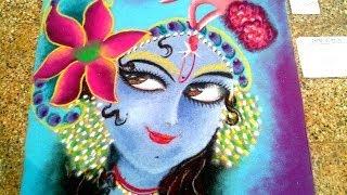 Rangoli designs of lord Krishna