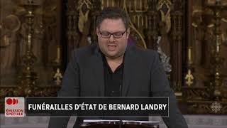 Mathieu Bock-Côté - Funérailles d'État de Bernard Landry