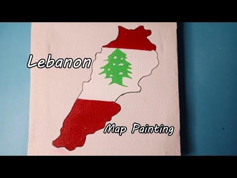 Daily Painting || Lebanon Map || Acrylic Paint || Paint Skills