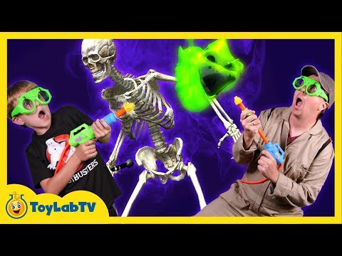 Thumbnail: GET SLIMED #2: Ghostbusters vs Slimy Ghost In Real Life Messy Ghost Hunt w/ Toys in Funny Kids Video