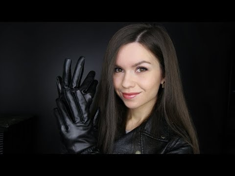 ASMR - Leather Rubbing Sounds (Jacket & Gloves) // No Talking
