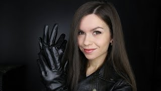 ASMR - Leather Rubbing Sounds (Jacket & Gloves) // No Talking
