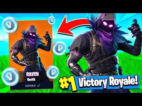 "NEW Free ""RAVEN"" SKIN UPDATE + GLIDER!! ( Fortnite Raven Gameplay ) thumbnail"