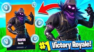 "NEW Free ""RAVEN"" SKIN UPDATE + GLIDER!! ( Fortnite Raven Gameplay )"