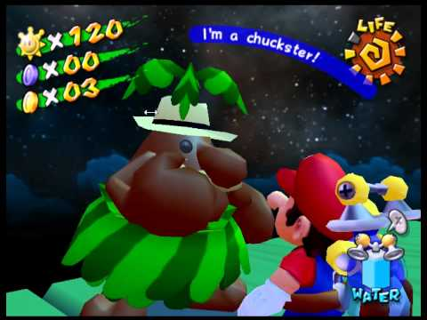 Mario Sunshine Passable Wall on Emulator