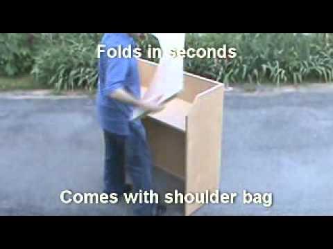 Folding Portable Bar Demonstration.wmv - YouTube