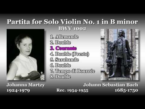 Bach: Partita for Solo Violin No. 1, Martzy (1954) バッハ 無伴奏ヴァイオリンのためのパルティータ第1番 マルツィ