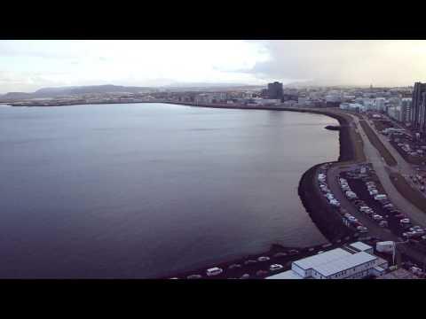 Harpa Concert and Conference Center Reykjavik Iceland Tower Crane