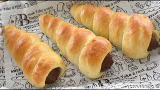 Easy! cornet bread【お家カフェシリーズ!】発酵時間 短縮★時短コロネパン