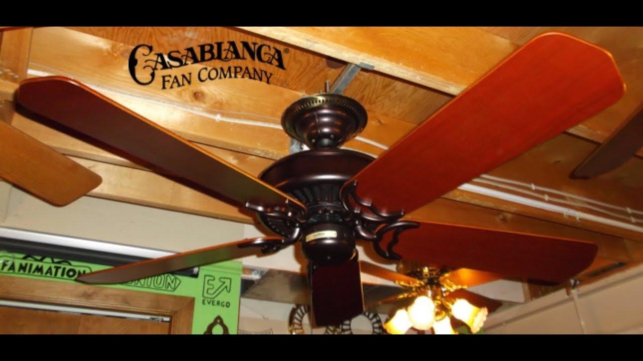 Casablanca Panama Ii Ceiling Fan Youtube