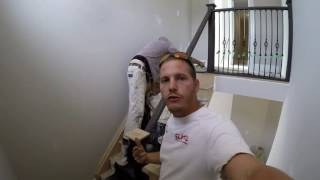 DIY How to stain/ DIY how to stain set of stairs.