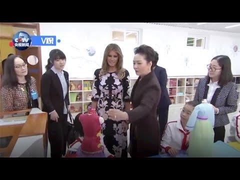 Peng Liyuan, Melania Trump design traditional Chinese dress with pupils
