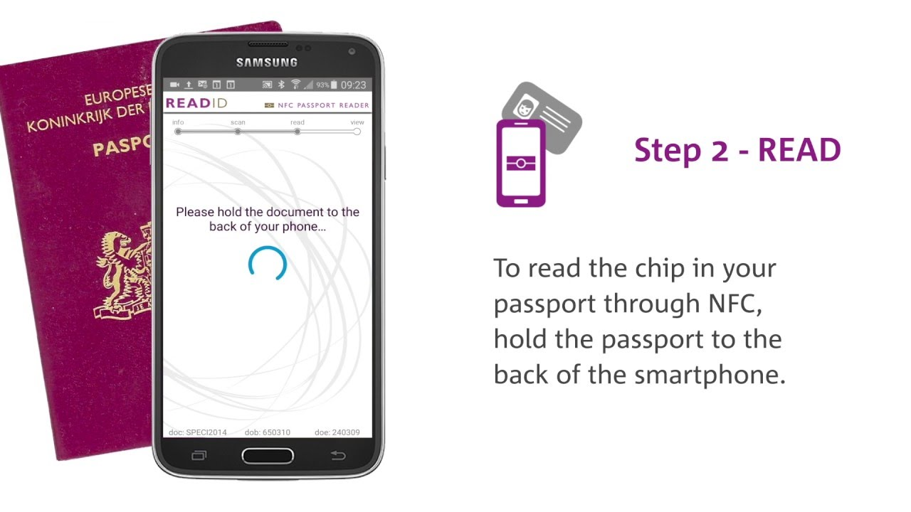 ReadID - NFC Passport Reader demo