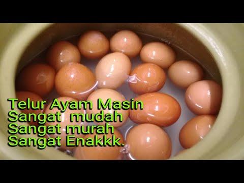 Cara membuat Telur Masin (Ayam)