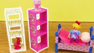 Playmobil DIY Möbel dekorieren mit Washitape | Panda & Einhorn Idee | Kinder Zimmer deko