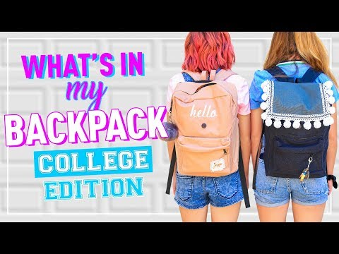 What's In My Backpack COLLEGE Edition! | Back To School 2019