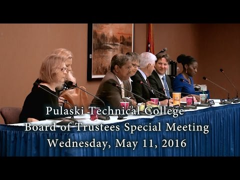 Pulaski Technical College Special Board Meeting - March 12, 2016