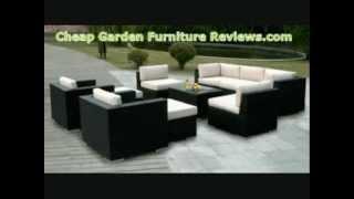 Garden Furniture Ohana Outdoor Patio Wicker Furniture 12pcs.wmv