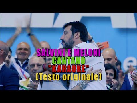 SALVINI E MELONI CANTANO 'KARAOKE' (Boomdabash, Amoroso)