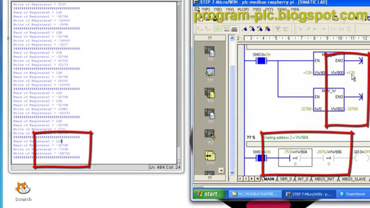 Modbus RTU Communication between PLC and Raspberry Pi